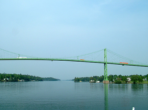 Canada Ontario Photos :: 1000 Islands :: Ontario. 1000 Islands. Bridge Canada - USA