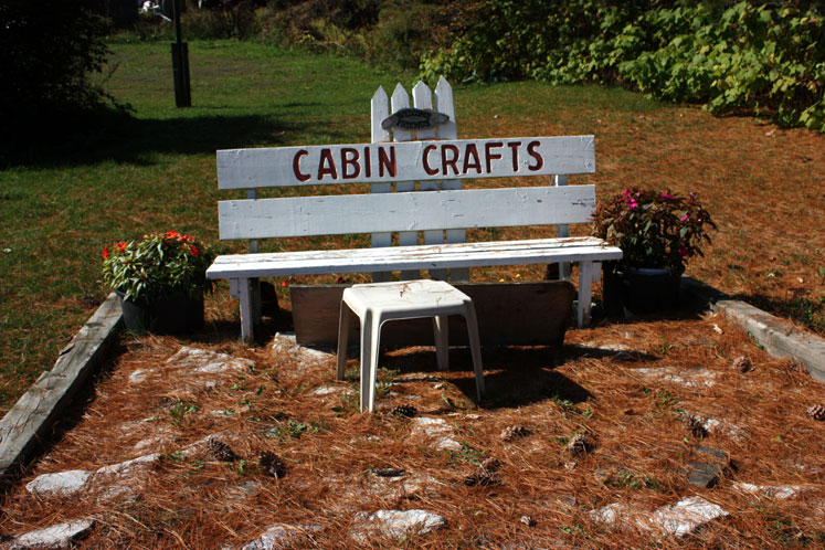 Canada Ontario Photos :: Bala :: Muskoka, Bala - a bench by the acrafts gallery