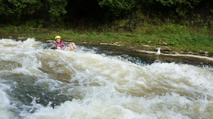 Canada Ontario Photos :: Elora :: Tubing at the Elora Gorge Conservation