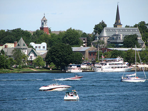 Canada Ontario Photos :: Gananoque :: Gananoque. View from St.Lawrence River
