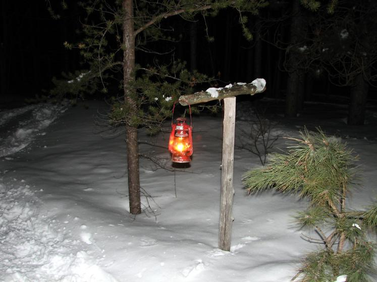 Canada Ontario Photos :: Horseshoe ski resort :: Horseshoe ski resort - a lantern along the skiing trail