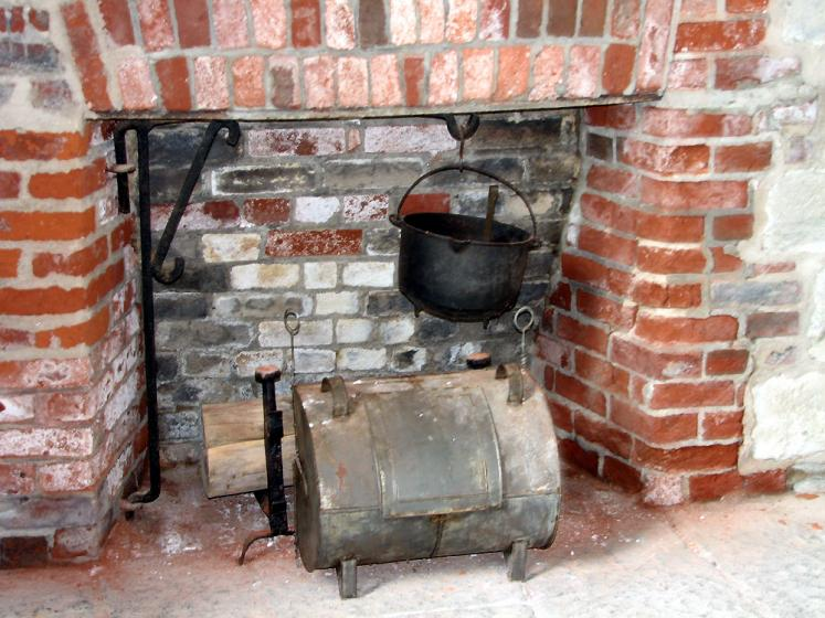 Canada Ontario Photos :: Kingston - Fort Henry :: Fort Henry - fireplace