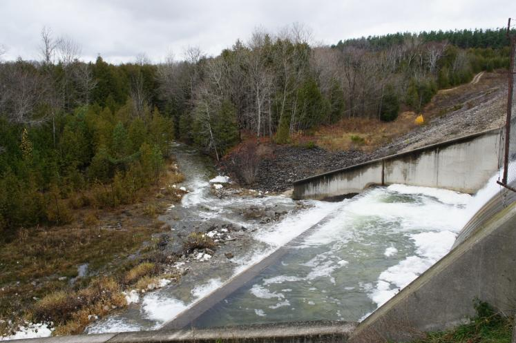 Canada Ontario Photos :: Misc :: Eugenia Dam upstream which controls water level at Eugenia Falls