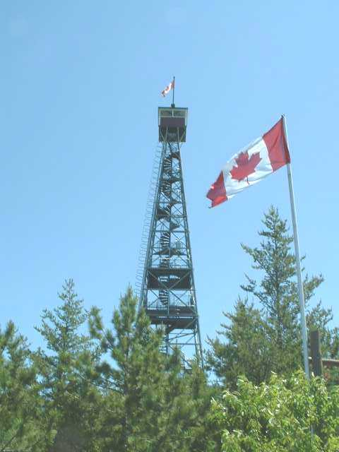 Canada Ontario Photos :: Clay :: Temagami Fire Tower (Cariboo Mountain)