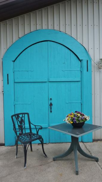 Canada Ontario Photos :: Niagara-on-the-Lake :: Door at Small Talk Vineyards-Niagara on the Lake