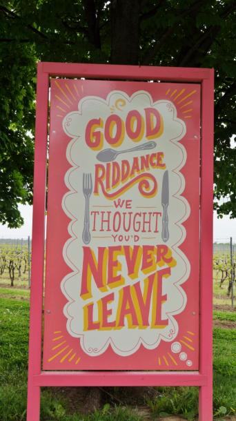 Canada Ontario Photos :: Niagara-on-the-Lake :: Sign at Small Talk Vineyards-Niagara on the Lake