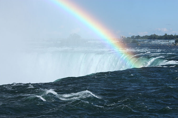 Canada Ontario Photos :: Niagara Falls (Canadian) :: A rainbow at Niagara Falls