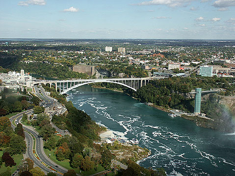 Canada Ontario Photos :: Panoramic views :: Niagara Falls. View of the Bridge Connecting Canadian and American Sides