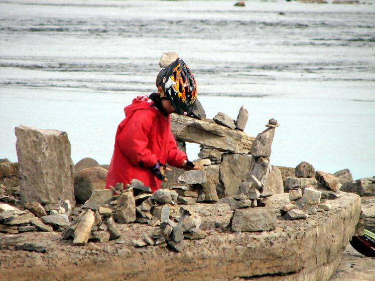 Canada Ontario Photos :: Ottawa :: Ottawa. Boy playing with rocks