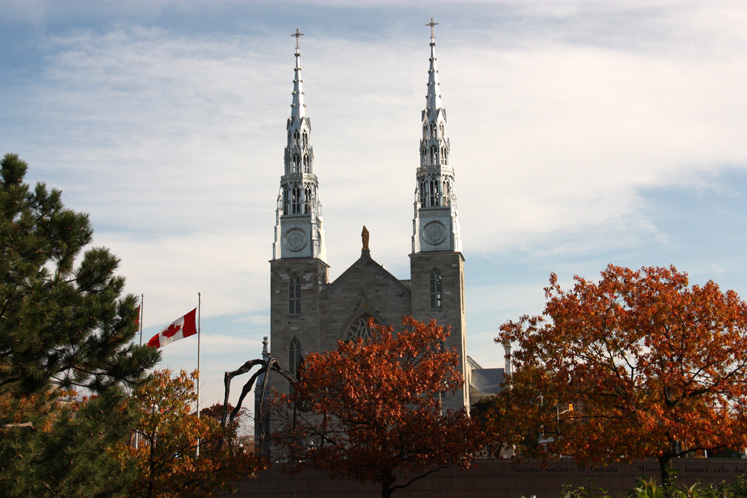 Canada Ontario Photos :: Fall :: Ottawa. Notre-Dame Cathedral