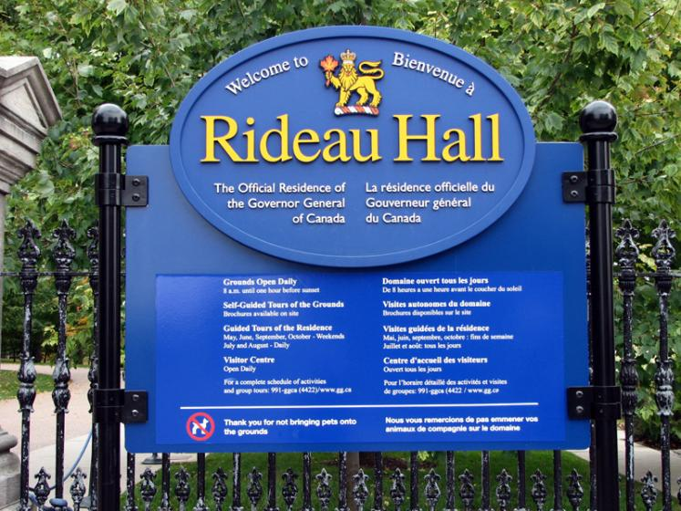 Canada Ontario Photos :: Ottawa :: Ottawa. Rideau Hall Park Entrance