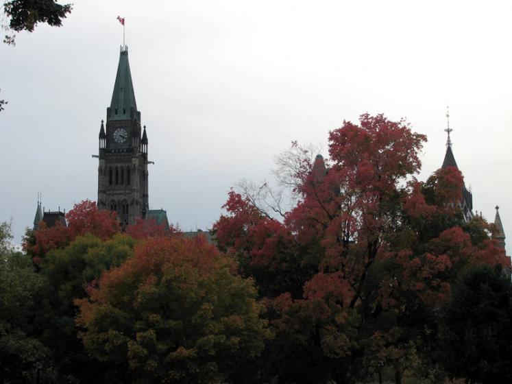 Canada Ontario Photos :: Ottawa :: Ottawa. Peace Tower and red maples